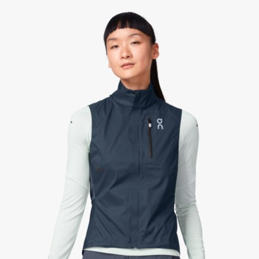 On Wmns Weather Vest Navy Shadow