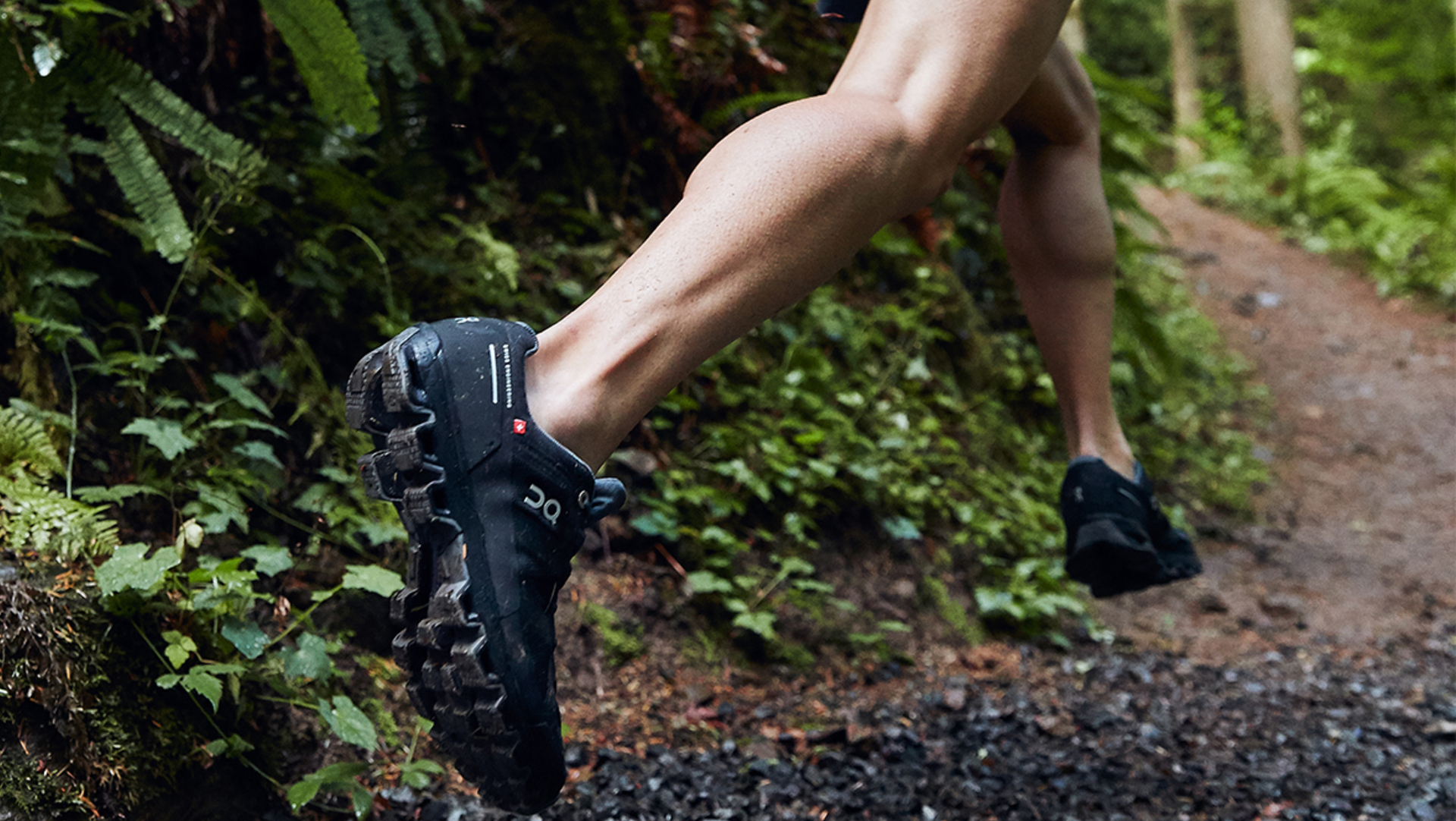 On Cloudventure Waterproof Black Graphite action sole